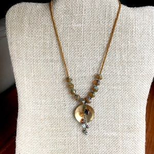 Pretty waterfall necklace with adjustable length